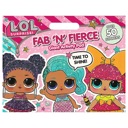 Picture of LOL SURPRISE GIANT ACTIVITY PAD-FAB N FIERCE